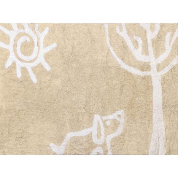 alfombra infantil verano beige lavable en lavadora algodon ve be imagen
