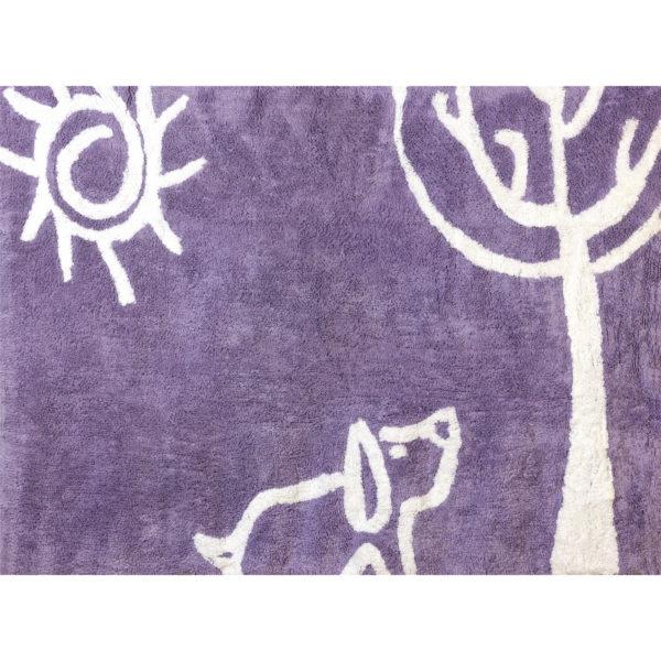 alfombra infantil verano lila lavable en lavadora algodon ve li imagen