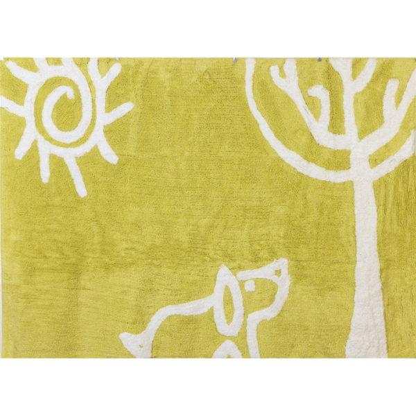 alfombra infantil verano pistacho lavable en lavadora algodon ve pi imagen