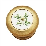 brushed bronze with enamel decoration classic furniture handle knob 23 14315