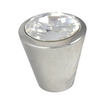 swarovski knob polish silver furniture handle 577 10092sw