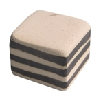 handle knob lines with white top handcraft ceramic 26x26mm 127a2