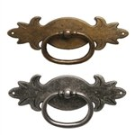 antique bronze horizontal ring rustic furniture handle 2700c