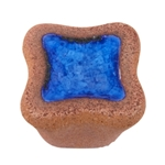 stoneware handcraft handle knob blue glass 354az