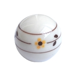 ball handle knob brown flower hand painted 369a2