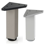 square leg aluminum, shiny finishlegs furniture accesories n297