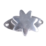 polished aluminium star hook with plate 507a2
