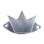 polished aluminium crown hook with plate 509a2