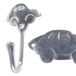 polished aluminium car hook with plate 511a2