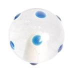 blue dots handle knob handcraft glass 554az