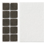 square white adhesive felts 20x20mm for furniture chair table legs