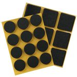 adhesive bumper 20x20mm anti-slip black foam rubber furniture