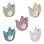 knob tulipe wood sand shabby chic baby furniture drawer pull ap1047