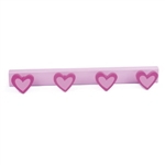 wall hangerhooks magenta hearts lilacbase coat hook rack n490