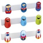hanger 3 furniture knobs astronaut base wood white children kids design 9006abl