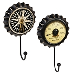 percha pared chapa reloj mapa vintage retro ap1468