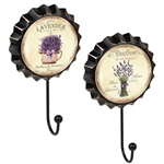 percha pared chapa lavanda vintage retro ap1480