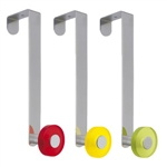 door hanger chrome with knob yellow transparent coat hook rack n253