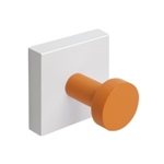 percha pared base blanca con 1 pomo lila 988li