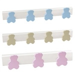 wall hangerbears sky blue. white lacqueredbase coat hook rack n486