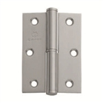 stainless steel hinge square corners left bireciz