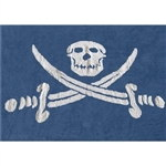 blue child rug pirate flag in a washing machine washablecotton isla az image