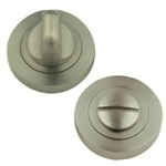 bathroom door thumb turn with release 5mm round rosette satin nickel finish manufactured in zinc alloy mu906