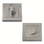 bathroom door thumb turn with release 52mm square rosette manufactured in satin stainless steel muinoxc