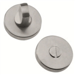 bathroom door thumb turn with release 52mm round rosette manufactured in satin stainless steel muinoxr