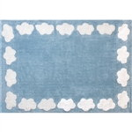 blue cloud child rug in washing machine washable cotton n az image