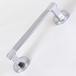 2 door handles set brass round rosette 50mm satin chrome moli180r