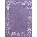 blue meadow child rug in washing machine washable cotton pra az image