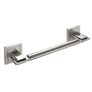 230mm door handle 50mm rossette satin nickel mod naos