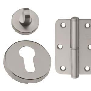 Scutcheon, locks and hinges